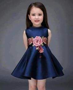 Another great find on Navy & Pink Floral-Accent Swing Dress - Toddler & Girls Little Girl Dresses, Girls Dresses, Summer Dresses, Fashion Kids, Girl Fashion, Fashion Dresses, Fashion Vestidos, Flower Girls, Flower Girl Dresses