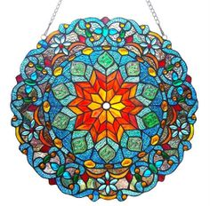 21 Round Stained Glass Colorful Blossom by WholesaleGallery, $140.00
