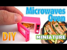 DIY Realistic Miniature Microwave Oven | DollHouse | No Polymer Clay! - YouTube