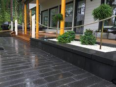 Paasikko-muuri ja Piano-kivet asuntomessut kohde 1 Tunturikoivu