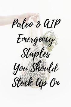 Aip Grocery List, Paleo Autoimmune Protocol, Emergency Food Supply, Healthy Groceries, Aip Diet, Inflammatory Foods, Warning Signs, Eat, Fodmap