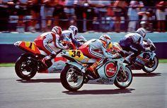 Wayne Rainy (Yamaha), Kevin Schwants (Suzuki), Mick Doohan (Honda)