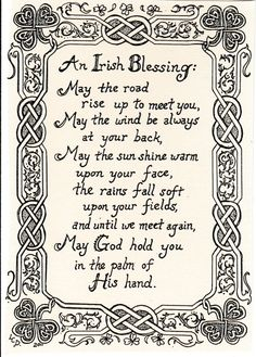 An Irish Blessing wiith illustrated border: by FarmhouseGreetings