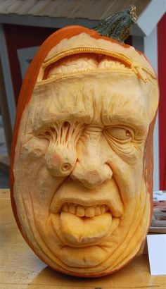 Holy Pumpkin Carving! Hanging eyeball