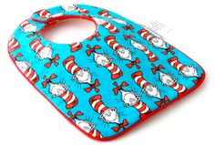the Cat in the Hat Dr. Seuss babero bib miraquechulo