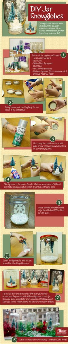 """How to Create DIY Snowglobes ... An alternative idea to a """"How To"""" video. also make mini bottle snowglobe charms with mini bottles: http://www.ecrafty.com/c-517-mini-glass-bottles.aspx #ecrafty"""