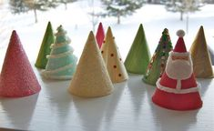 Easiest Christmas Craft Ever (made with water cooler cones)  Great kids decorations