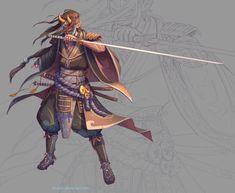 ArtStation - Samurai couple, Nico Fari