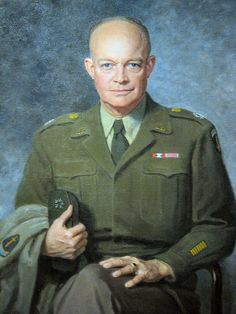General Dwight David Eisenhower 1890 ~ 1969. He was one of the most important generals of World War Two and one who went on to greater success as president of America from 1953 to 1961.