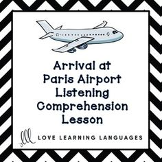 Are you teaching your students about airports, public transportation and how to plan a trip to France? Do you want your students to practice their listenin. Learn French Fast, Learn To Speak French, Comprehension Exercises, Comprehension Activities, Listening Activities, French Teacher, Teaching French, Paris Airport, Public Speaking Tips