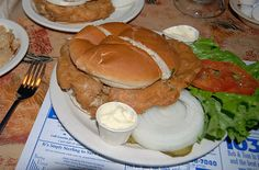 Fried Brain Sandwich  Largely a dish of the past, these used to be popular in the Central United States until mad cow disease became a concern. Although people still eat them, serving brain from a cow that is over 30 months old at slaughter is no longer legal in the United States.