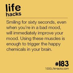 The post #183 – Boost Your Mood By Smiling appeared first on 1000 Life Hacks. #LifeHack