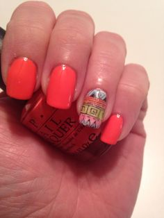 OPI's   SPF XXX With tribal stamping.