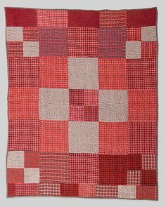 Pieced wool quilt, ca. 1900, Canadian