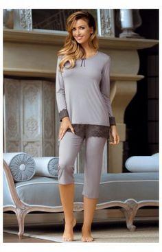 Pyjama Femme Model Cornelia Gris Babella 66035