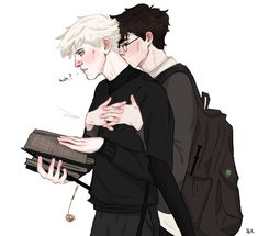 Draco and Harry modern Fashion Drarry Harry James Potter, Harry Potter Anime, Harry Potter Fan Art, Harry Potter Draco Malfoy, Harry Potter Ships, Harry Potter Universal, Harry Potter Fandom, Harry Potter Memes, Hermione Granger
