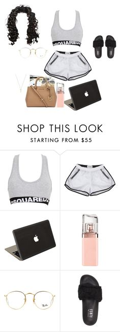 """""""Untitled #37"""" by jenah-dv ❤ liked on Polyvore featuring Dsquared2, Valentine Goods, HUGO, Ray-Ban, Puma and Gucci"""