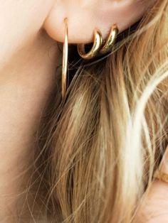 gold earrings / mini hoops / jewelry