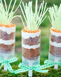 Easter Carrot Cake Push Pops! Ready for Parties and guest! #Easterdessert