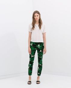 Image 1 of PRINTED CROP TROUSERS from Zara , 29.99