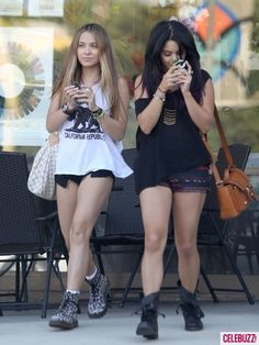 Vanessa Hudgens was seen while out shopping with her sister, Stella Hudgens, at Westfield Mall in Calabasas, Calif.