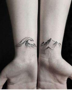 wave tattoo on wrist