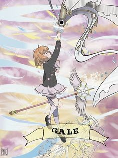 Card Captor Sakura: Gale Card by Smtart on DeviantArt Syaoran, Cardcaptor Sakura, Manga Anime, Magic Knight Rayearth, Haruhi Suzumiya, Xxxholic, Card Captor, Clear Card, I Love Anime