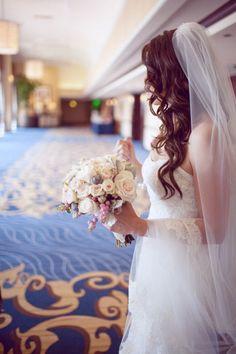 Abi Q Photography Curly Hair with Veil #attire #wedding