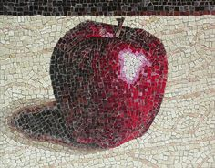 single apple, mosaic, bachor
