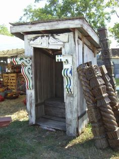 SOUTHERN Junk Gypsy & Round Rock TEXAS Living Antique Show. Antique outhouse.