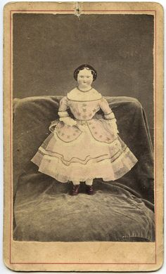 Antique Photo / China Head Doll in Dress