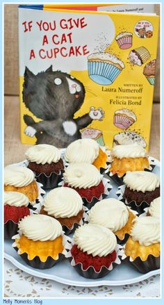 A Storybook Themed Baby Shower... If You Give a Cat a Cupcake, and many other favorites, help create this gender neutral party! It includes DIY decorations, free printables, and classic children's books to go along with a variety of tasty sweets and snacks!