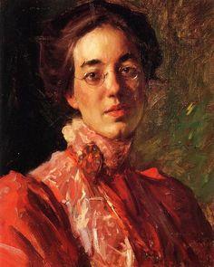 Portrait of Elizabeth (Betsy) Fisher, 1899 by William Merritt Chase (1849-1916, United States)