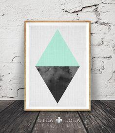 Triangle Print, Geometric Wall Art, Scandinavian, Minimalist Modern Design, Nordic, Mint Green Home Decor, Printable Instant Download by LILAxLOLA on Etsy https://www.etsy.com/listing/265672053/triangle-print-geometric-wall-art