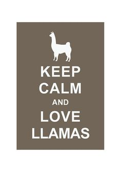 Keep Calm and Love Llamas  Animal by simplygiftsonline on Etsy