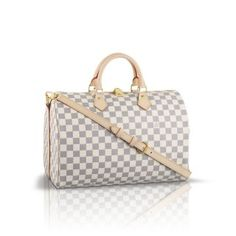 Louis Vuitton Speedy Bandouliere 35 Damier Azur Canvas N41002