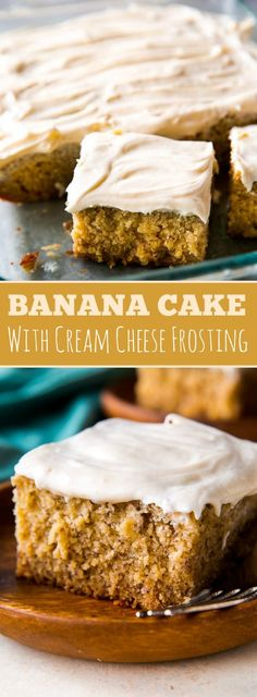 This is absolutely the best banana cake I've ever had! It's supremely moist with cream cheese frosting, tons of banana, brown sugar, and…