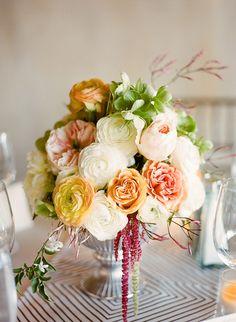 From Ambers board - Floral by Julianne deSilva Design Wedding Reception Flowers, Wedding Cakes With Flowers, Floral Wedding, Wedding Peach, Wedding Receptions, Wedding Ideas, Centerpiece Decorations, Flower Centerpieces, Wedding Centerpieces