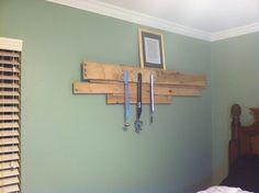 Marc's DIY project. Wooden pallet turned in medal display