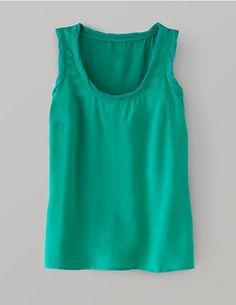 Boden Perfect Silk Top - I like the twisted georgette trim details on the neckline and armholes