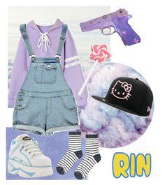"""rin style 01"" by mumachan on Polyvore featuring ファッション, Holga, Boohoo, Accessorize と Hello Kitty"