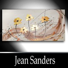 """Produktbeschreibung    Künstler:  Jean Sanders  """"FLOWERS""""  120 x 60 cm  Material:  Acrylfarben, Schlussfirnis  Malgrund:  Das Bild ist bereits fertig"""