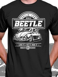 VOLKSWAGEN T-shirt ..VW Car Enthusiast top..with arm logos v dub present gift
