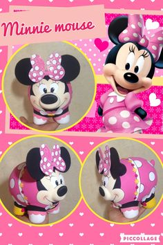 Alcancias pintadas a mano Pig Bank, Cute Piggies, This Little Piggy, Tmnt, Minnie Mouse, Projects To Try, Pottery, Ceramics, Disney Characters