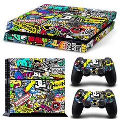 Green leave skin for vinyl stickers ps4 for Sony playstation 4 console and controller sticker for play station4 skin sticker