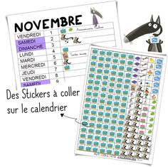 Calendrier 2019/ 2020 - Le Loup - Validées Splat Le Chat, Word Search, Education, Words, Album, School Calendar, Teacher Binder, School Life, Training