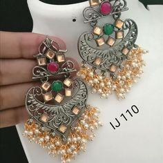 🌟 To buy this dm or whatsapp Indian Earrings, Rakhi, Bangles, Bracelets, Chokers, Colours, Bag, Accessories, Instagram