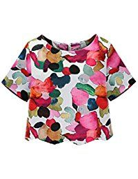 New SheIn Women's Casual Calico Print Crop Blouse online. Find the perfect Milumia Tops-Tees from top store. Sku FRPY85342DZDX62587