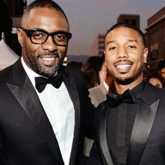 secretempires:  Idris Elba and Michael B. Jordan from The Wire.   MMMMMMMMMM.