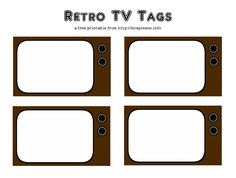 Free Printable: Retro TV Tags (scrapbook journaling, gift tags, place cards)